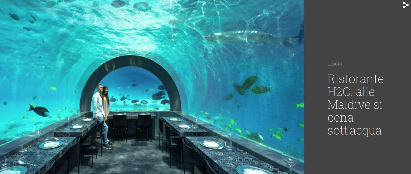 Ristorante H2O: alle Maldive si cena sott'acqua